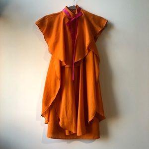Palm Springs Orange Flutter Dress
